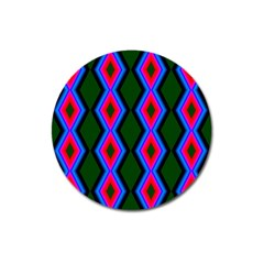 Quadrate Repetition Abstract Pattern Magnet 3  (Round)