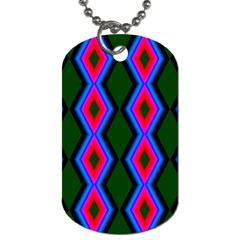 Quadrate Repetition Abstract Pattern Dog Tag (One Side)
