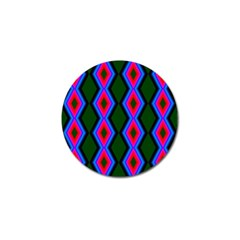 Quadrate Repetition Abstract Pattern Golf Ball Marker