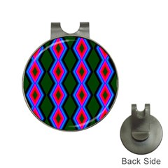 Quadrate Repetition Abstract Pattern Hat Clips with Golf Markers