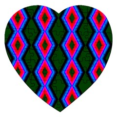 Quadrate Repetition Abstract Pattern Jigsaw Puzzle (Heart)