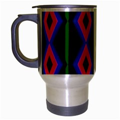 Quadrate Repetition Abstract Pattern Travel Mug (silver Gray)