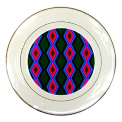 Quadrate Repetition Abstract Pattern Porcelain Plates