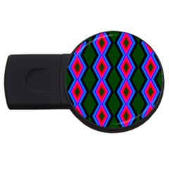 Quadrate Repetition Abstract Pattern USB Flash Drive Round (4 GB)