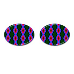 Quadrate Repetition Abstract Pattern Cufflinks (Oval)