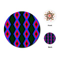 Quadrate Repetition Abstract Pattern Playing Cards (Round)