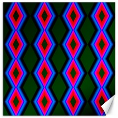Quadrate Repetition Abstract Pattern Canvas 16  x 16