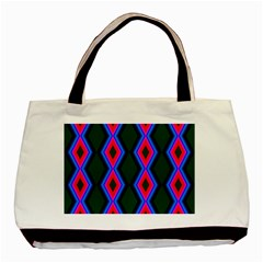 Quadrate Repetition Abstract Pattern Basic Tote Bag (Two Sides)