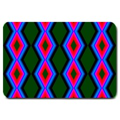 Quadrate Repetition Abstract Pattern Large Doormat