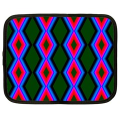 Quadrate Repetition Abstract Pattern Netbook Case (large)