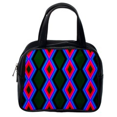 Quadrate Repetition Abstract Pattern Classic Handbags (One Side)