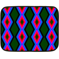 Quadrate Repetition Abstract Pattern Fleece Blanket (mini)