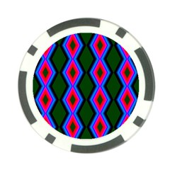 Quadrate Repetition Abstract Pattern Poker Chip Card Guard (10 Pack)