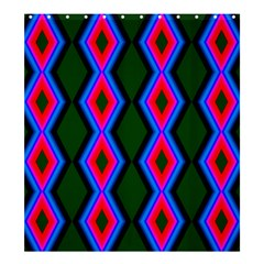 Quadrate Repetition Abstract Pattern Shower Curtain 66  x 72  (Large)