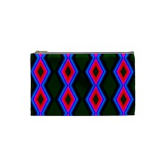 Quadrate Repetition Abstract Pattern Cosmetic Bag (Small)