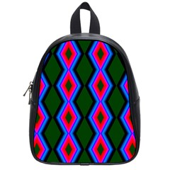 Quadrate Repetition Abstract Pattern School Bags (Small)