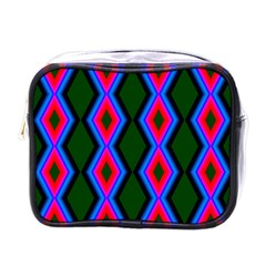 Quadrate Repetition Abstract Pattern Mini Toiletries Bags