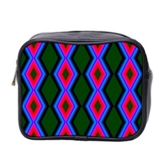 Quadrate Repetition Abstract Pattern Mini Toiletries Bag 2-Side