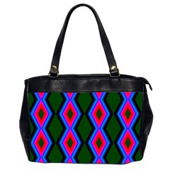Quadrate Repetition Abstract Pattern Office Handbags (2 Sides)