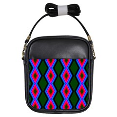 Quadrate Repetition Abstract Pattern Girls Sling Bags