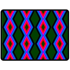 Quadrate Repetition Abstract Pattern Fleece Blanket (Large)