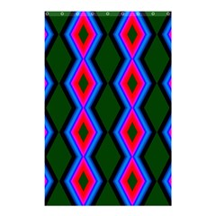 Quadrate Repetition Abstract Pattern Shower Curtain 48  x 72  (Small)