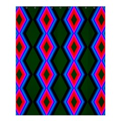 Quadrate Repetition Abstract Pattern Shower Curtain 60  x 72  (Medium)