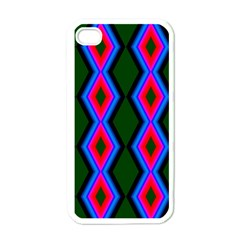 Quadrate Repetition Abstract Pattern Apple iPhone 4 Case (White)
