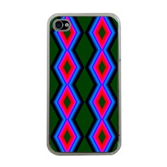 Quadrate Repetition Abstract Pattern Apple iPhone 4 Case (Clear)