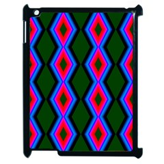 Quadrate Repetition Abstract Pattern Apple iPad 2 Case (Black)