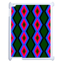 Quadrate Repetition Abstract Pattern Apple iPad 2 Case (White)