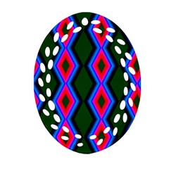 Quadrate Repetition Abstract Pattern Ornament (Oval Filigree)