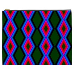 Quadrate Repetition Abstract Pattern Cosmetic Bag (xxxl)