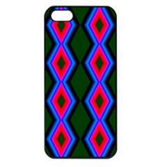 Quadrate Repetition Abstract Pattern Apple Iphone 5 Seamless Case (black)
