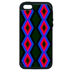 Quadrate Repetition Abstract Pattern Apple iPhone 5 Hardshell Case (PC+Silicone)