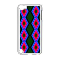 Quadrate Repetition Abstract Pattern Apple iPod Touch 5 Case (White)