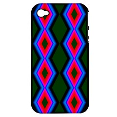Quadrate Repetition Abstract Pattern Apple iPhone 4/4S Hardshell Case (PC+Silicone)