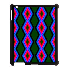 Quadrate Repetition Abstract Pattern Apple Ipad 3/4 Case (black)