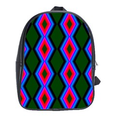 Quadrate Repetition Abstract Pattern School Bags (XL)