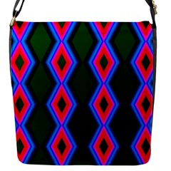 Quadrate Repetition Abstract Pattern Flap Messenger Bag (s)