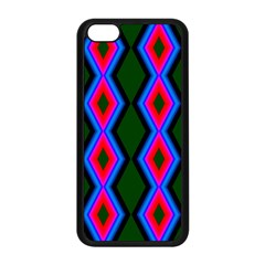 Quadrate Repetition Abstract Pattern Apple Iphone 5c Seamless Case (black)