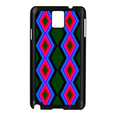 Quadrate Repetition Abstract Pattern Samsung Galaxy Note 3 N9005 Case (black)