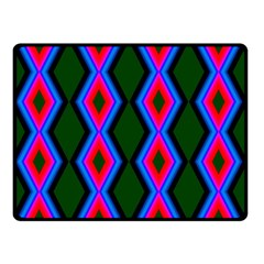 Quadrate Repetition Abstract Pattern Double Sided Fleece Blanket (small)