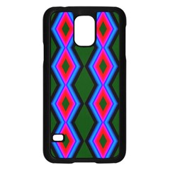 Quadrate Repetition Abstract Pattern Samsung Galaxy S5 Case (Black)