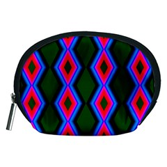 Quadrate Repetition Abstract Pattern Accessory Pouches (Medium)