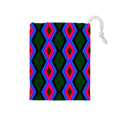 Quadrate Repetition Abstract Pattern Drawstring Pouches (Medium)