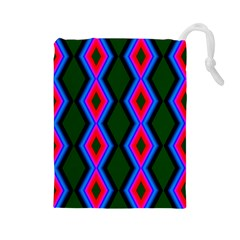 Quadrate Repetition Abstract Pattern Drawstring Pouches (large)