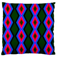 Quadrate Repetition Abstract Pattern Large Flano Cushion Case (one Side)