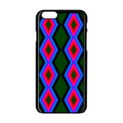 Quadrate Repetition Abstract Pattern Apple Iphone 6/6s Black Enamel Case
