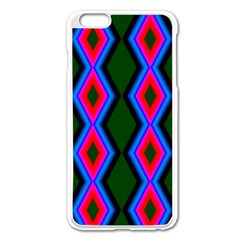 Quadrate Repetition Abstract Pattern Apple Iphone 6 Plus/6s Plus Enamel White Case